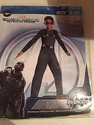 Halloween Costume Captain America Falcon Small 4-6 - Falcon Halloween Costume