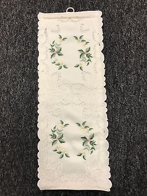 12 Pcs Handmade Rosebud Embroidered Embroidery Toilet Tissue Roll Holder -Double