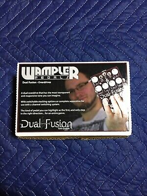 Wampler Pedals Dual Fusion Overdrive Guitar Effect Pedal