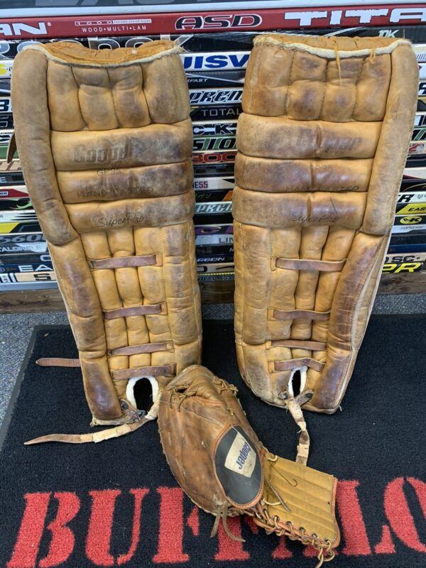 Vintage Cooper Goalie GP95 Leg Pads & Glove