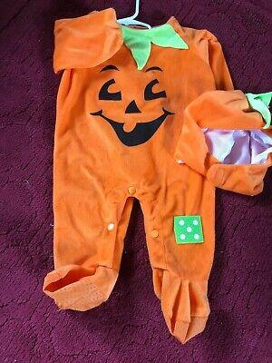 Super Cute Toddler Pumpkin Halloween Costume Sz 6-12m - Pumpkin Halloween Costume Toddler