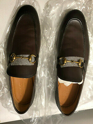 "GUCCI ""Jordaan"" Fondente Men's Loafers (Brown) - Size 9 UK / 9 US / 43.5 Euro"