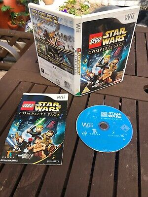LEGO Star Wars The Complete Saga Nintendo Wii Game UK PAL - WITH MANUAL