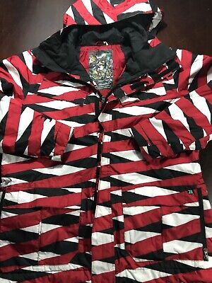 Burton Dryride Mens Sz L Restricted Chittagong Pattern Ski Snowboard Jacket