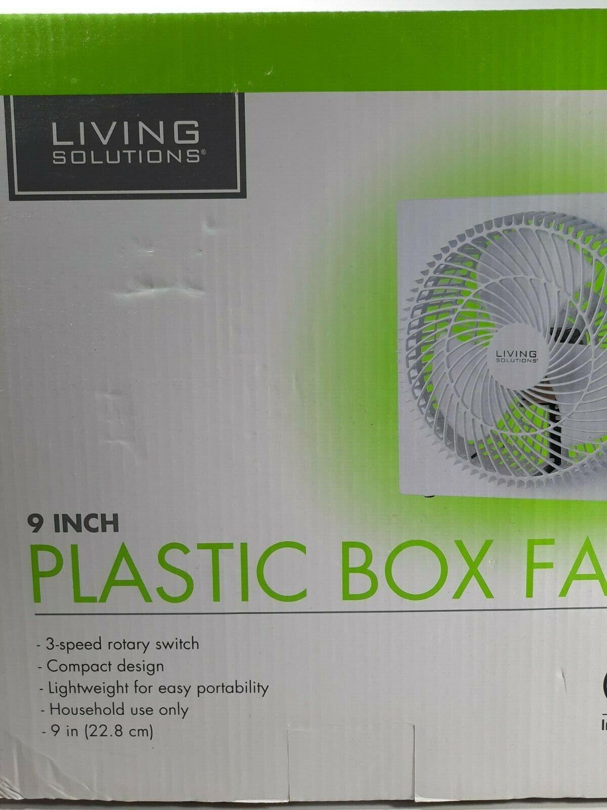 9inch plastic box fan new