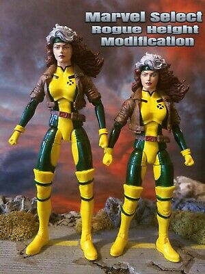 Marvel Select Rogue figure Height Modified Custom scale with 6 inch Legends