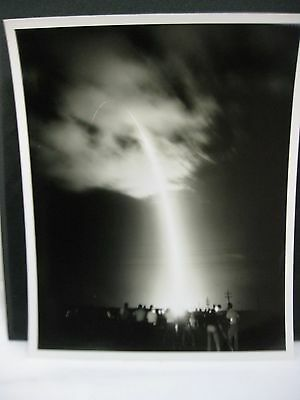 USAF Missile Headed Towards Target with Boeing Employees 1963 10x8