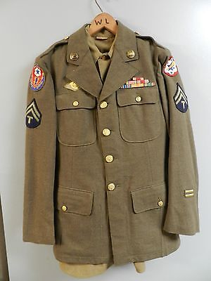 Original WWII Engeneers Uniform WestPac Patch Pin Shirt Pants and hat