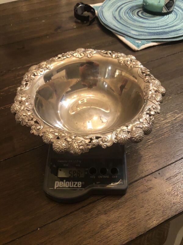 Vintage Tiffany & Co Sterling Silver Clover Shamrock Large Serving Bowl