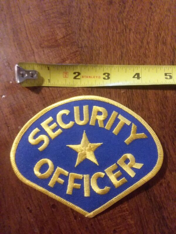 BRAND NEW SECURITY OFFICER PATCH BADGE BLUE AND GOLD