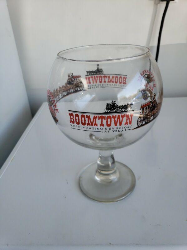Vintage Boomtown Casino Las Vegas Giant Glass