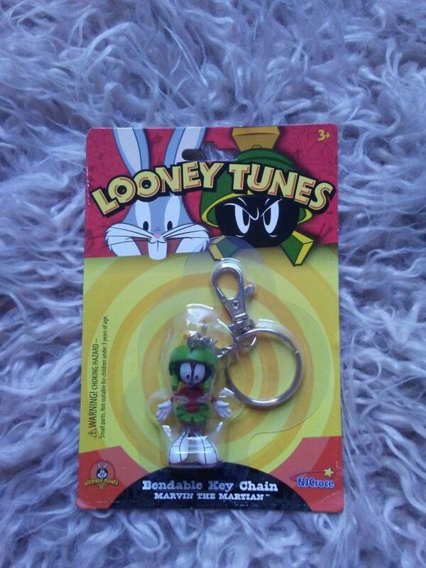 Looney Tunes Marvin The Martian Bendable Keychain NIP 2017
