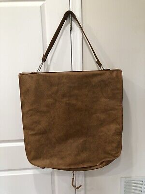 Vintage Samsonite Cordoba Garment Bag Suitcase Hanging Brown Faux Leather