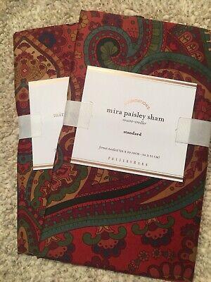 Set/2 Pottery Barn Mira Paisley Standard Shams Beautiful!!