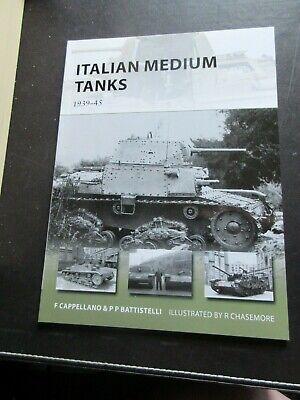 OSPREY NEW VANGUARD, ITALIAN MEDIUM TANKS, BRAND NEW