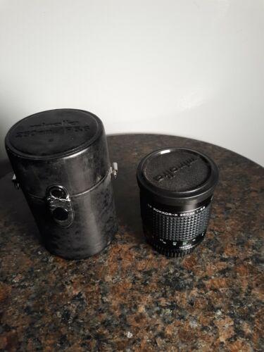 Rare Vintage Minolta RF ROKKOR-X 250mm 1 5.6 Mirror Camera Lens W/Case - $1,250.00