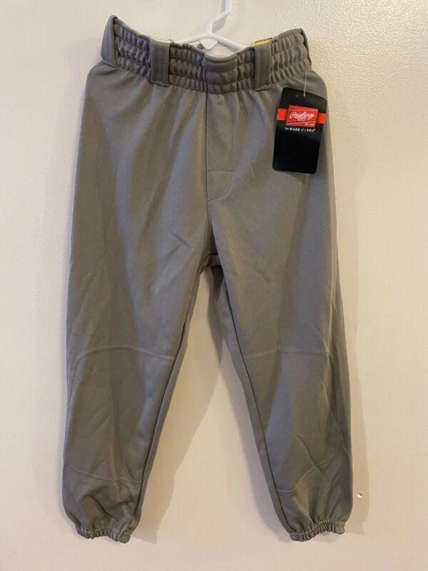 Rawlings Youth Gray Baseball Softball Pants Medium M New