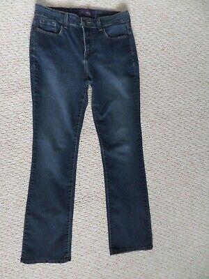 NYDJ Women's Straight Leg Lift Tuck Stretch Blue Jeans Size 8
