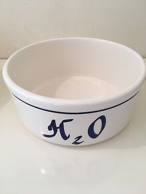 """H2O"" Pet Dog  Food Water 7""  Bowl by CLAY DESIGN Original Excellent Condition"