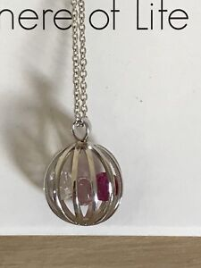 Silver Sphere Of Life Necklace