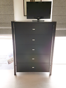 CAPTAIN SNOOZE Dark Brown Solid Wood Tallboy Chest Of Drawers!!!! Caulfield Glen Eira Area Preview