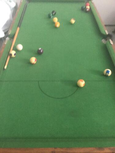 Foldaway Snooker Pool Table Slate Bed