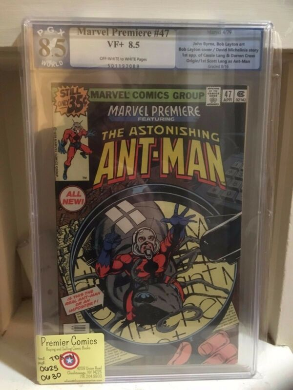 MARVEL COMICS PREMIERE #147 1979 PGX 8.5 VF+ 1ST SCOTT LANG AS ANT-MAN & CASSIE