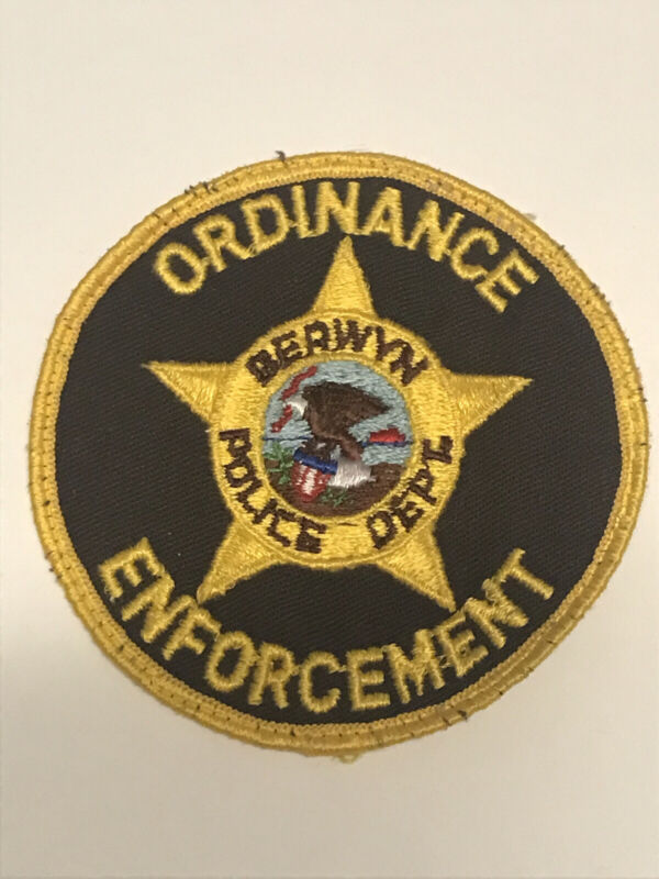 Vintage Berwyn Illinois Police Dept Ordinance Enforcement Patch Cheesecloth Old