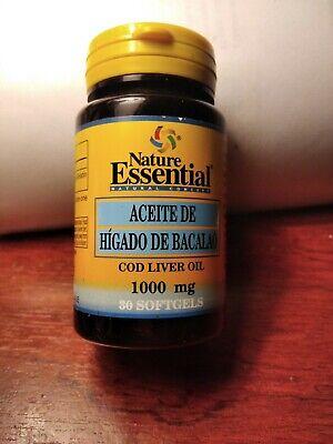 aceite higado de Bacalao 1000 mg 30 capsulas/Nature Essential