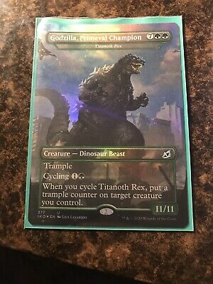 ikoria MTG Foil Godzilla, Primeval Champion Showcase