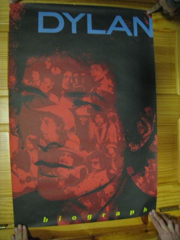 Bob Dylan Poster Biography Collage Vintage