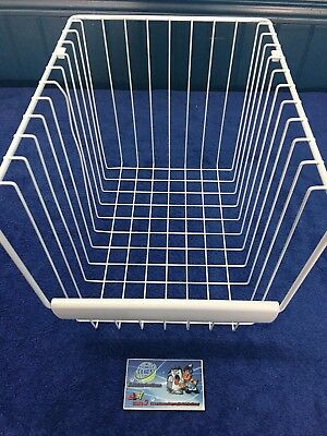 240530504  FRIGIDAIRE REFRIGERATOR FREEZER BASKET SLIDING UPPER FULL  WHITE