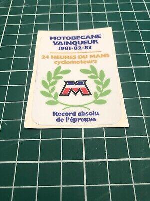 1 Autocollant Motobecane vainqueur des 24 h du mans 1981 à 83