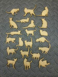 mdf  wooden cats various /shape /  sign / stencil