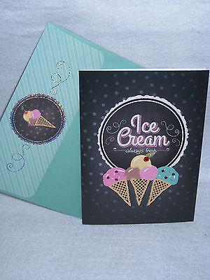 Burgoyne Handmade Ice Cream - Birthday Greeting Card - NEW