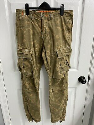 Mens Superdry Cargo Pants Camo Medium 32x32