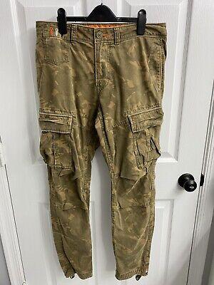 Mens Superdry Cargo Pants Camo Medium 32x32