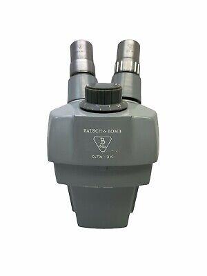 Bausch Lomb 0.7x-3x Stereozoom Grey Microscope Head