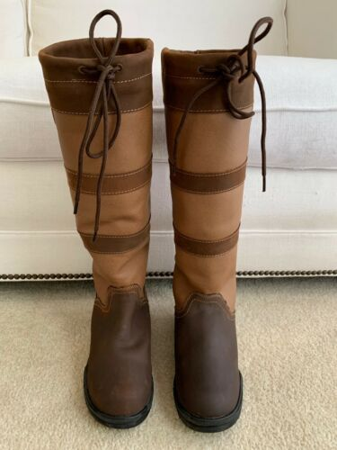 TUFFRIDER LEXINGTON COUNTRY EQUESTRIAN WATERPROOF BOOTS SIZE 7 7.5