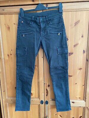 Hudson black/grey skinny cargo trousers size 27 waist cotton Style RN107906