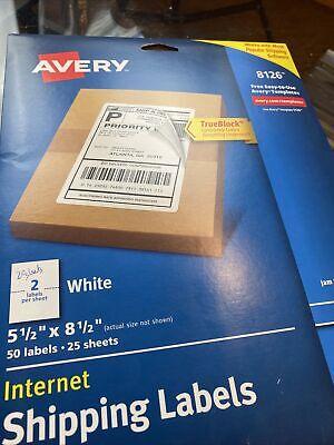 Shipping Labels W Trueblock Technology Inkjet Printers 5.5 X 8.5 White 40