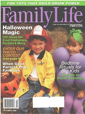 Cool Costume Ideas (FAMILY LIFE Magazine October 2000 Halloween Magic Cool Costume Ideas Parties)