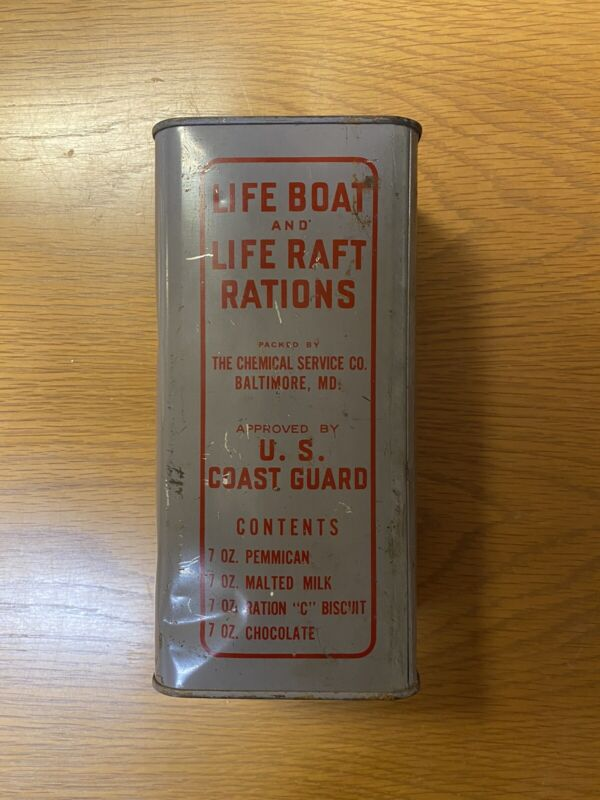 WWII Life Boat And Raft Emergency Survival Ration