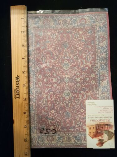 """1:12 Dollhouse size! Artist made Lovely Floor Covering! New  6-5/8"""" x 10"""" c58"""