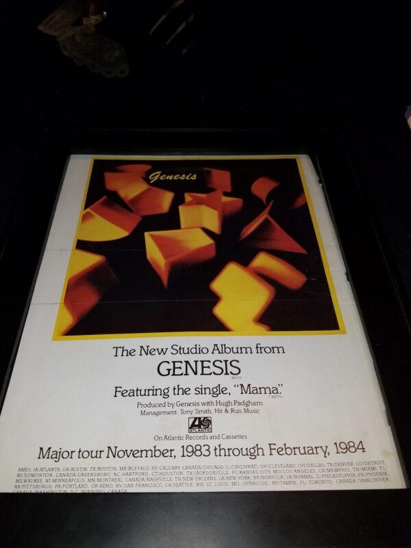 Genesis Mama Rare Original 1983 Promo Poster Ad Framed!