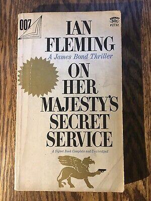 ON HER MAJESTY'S SECRET SERVICE  by Ian Fleming Signet paperback JAMES BOND