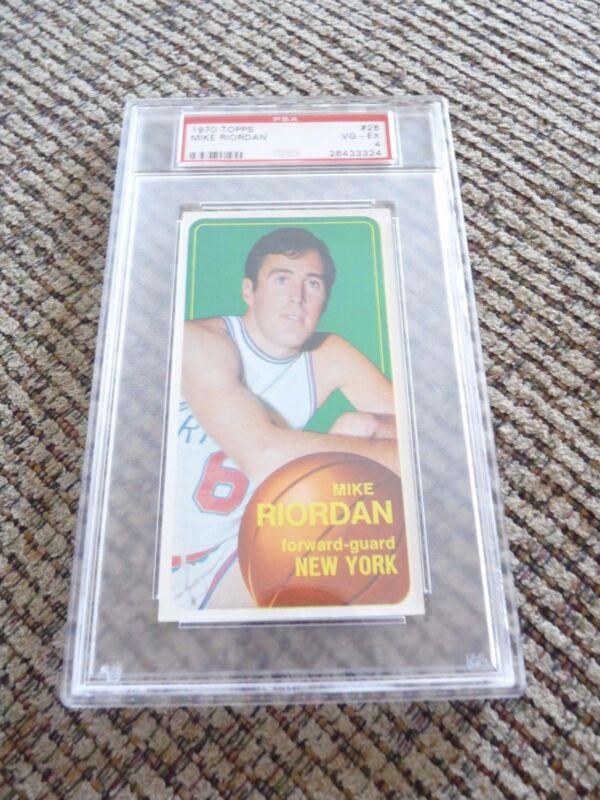 Mike Riordan 1970 Topps Tall Boy #26 Basketball Card PSA Graded Slabbed VG-EX 4
