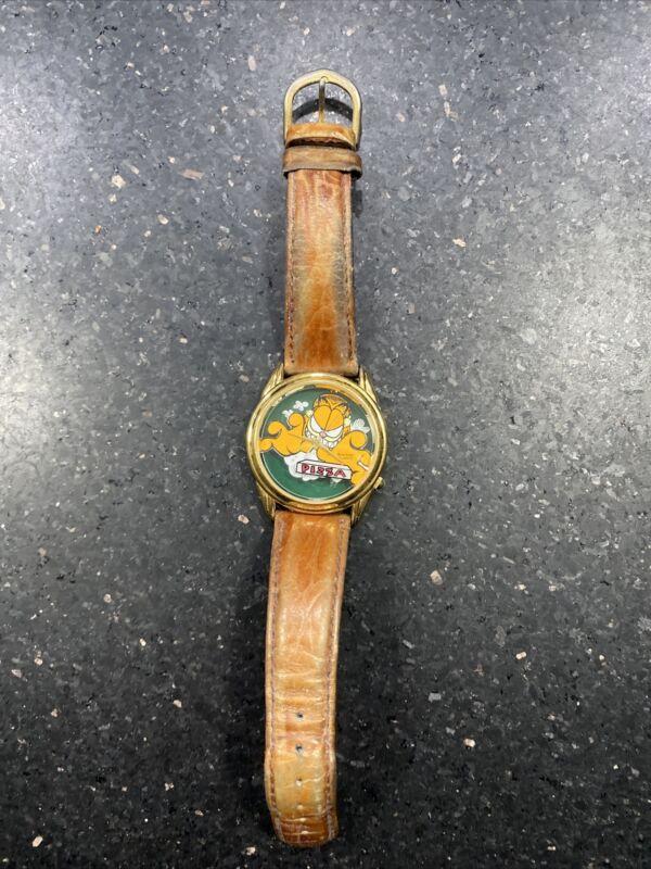 "Vintage 900/122 ARMITRON Garfield ""Pizza"" Quartz WATCH Rare 📈"