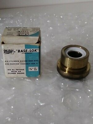 Lot Of 4miller Base-lok Air Cylinder Piston Rod Seal And Bushing Assembly 58