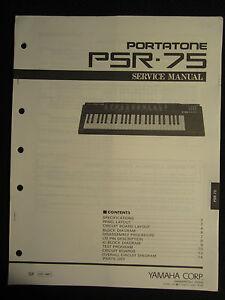 Yamaha portatone keyboard psr 75 service manual schematics for Yamaha keyboard parts